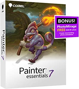 Corel Painter Essentials 7   Digital Art Suite   Amazon Exclusive Includes Free PhotoMirage Express Valued at $49 [PC/Mac Disc] [Old Version]