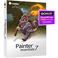 Corel Painter Essentials 7 | Digital Art Suite | Amazon Exclusive Includes FREE PhotoMirage Express Valued at 49 Dollar [PC Disc]