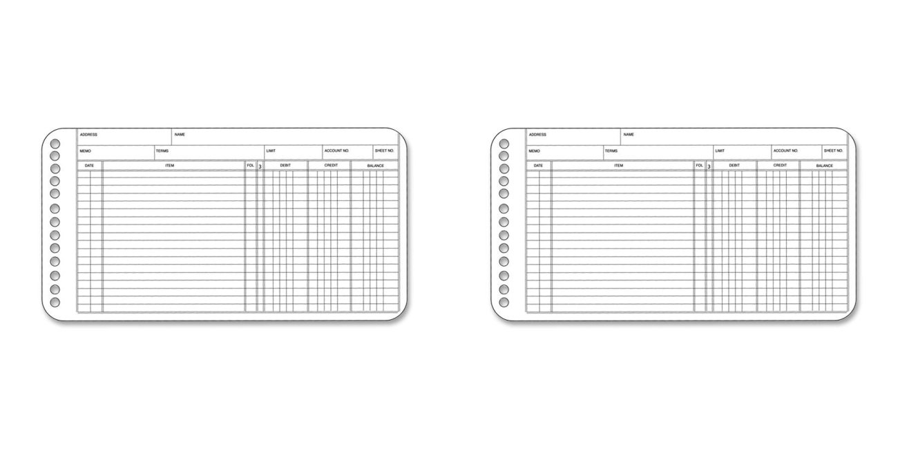 Wilson Jones Ring Ledger Sheets, 5 x 8.5 Inches, 24 Pound Paper, White, 100 Sheets per Pack (W758-50A), 2 Packs