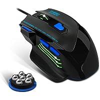EMPIRE GAMING - Hellhounds Muis Gamer - 7200 DPI - LED RGB Achtergrondverlichting - Ergonomische Inch Rest - Verstelbaar…