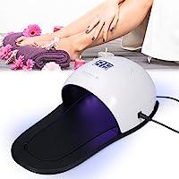 Lámpara de Uñas UV Filfeel Secador de Uñas UV Máquina de Uñas de Arte Herramientas para Uñas Polaco de Gel de Curado con Sensor Inteligente Herramienta de Manicura Pedicura(US Plug)