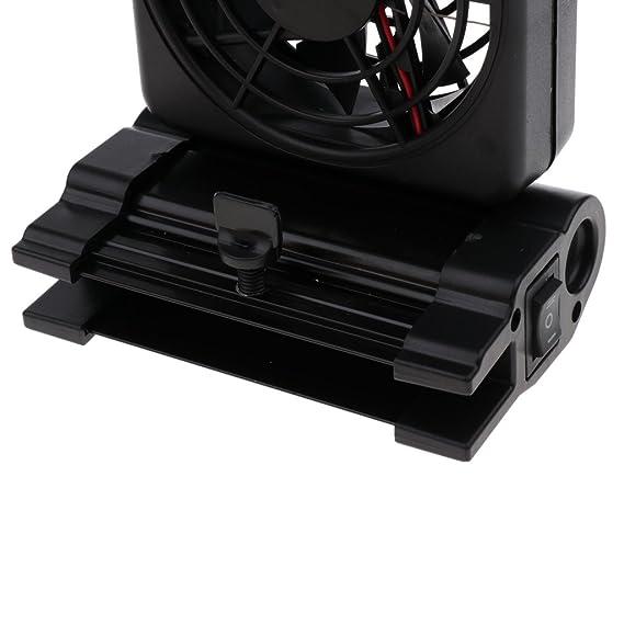 D DOLITY Refrigerador de Enfriamiento Ventelador Complimentos Acuario de Agua Dulce Material Plástico Aleación de Aluminio - 1 Ventilador: Amazon.es: Hogar