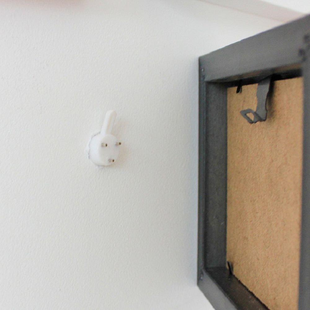 Icyang senza cuciture 100 pezzi per appendere quadri Ganci per appendere quadri invisibili con chiodi colore: bianco cornici e foto