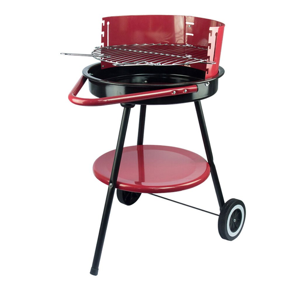Barbecue Grill European Double Bottom Wheel BBQ Outdoor Barbecue Portable Three-pin Handle Charcoal Grill Picnic Home Garden Barbecue