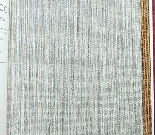 Indian Pattern Hemp (Linen flax straw wallpaper pattern simple non woven straw wallpaper,Hemp grey)