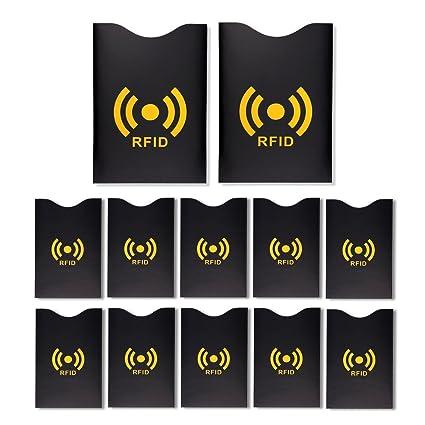 S/o® 12 unidades fundas para cartas (10 + 2) RFID Blocking ...