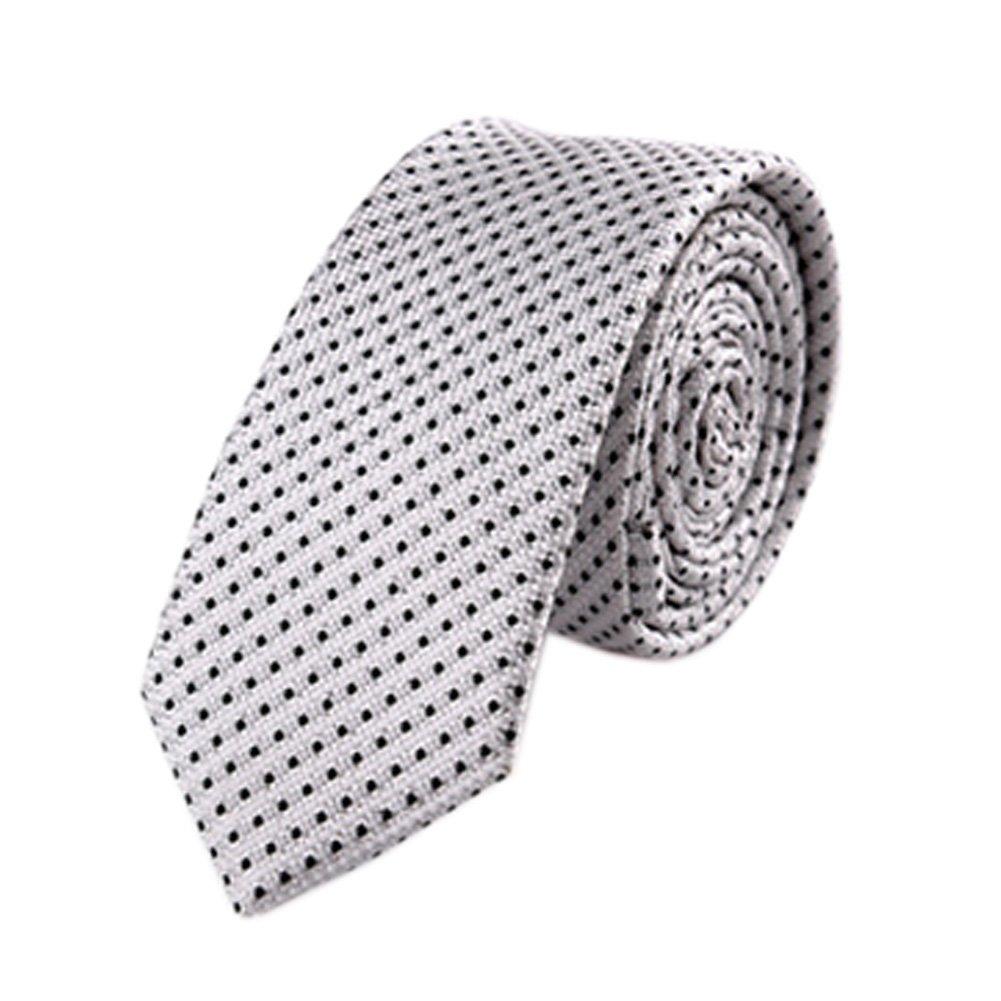 2Pcs Elegante Herren Krawatten-formale Krawatte f?r Business Silber