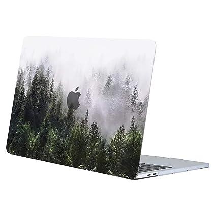 MOSISO Funda Dura Compatible con 2019 2018 2017 2016 MacBook Pro 13 USB-C A2159 A1989 A1706 A1708, Ultra Delgado Carcasa Rígida Protector de Patrón de ...