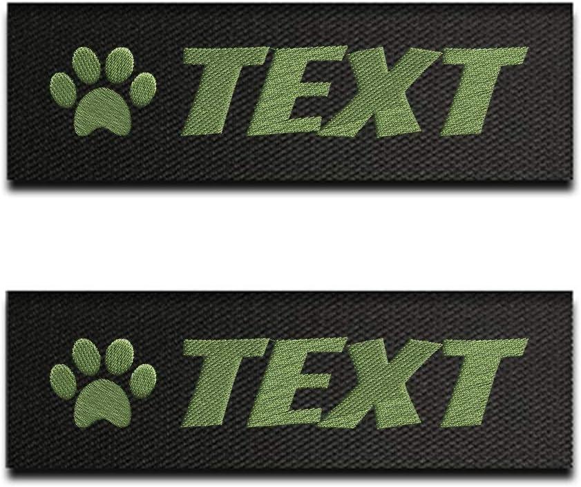 Canicaprice 2 Etiketten für K9-Hundegeschirr, mit phosphoreszierendem Wunschtext