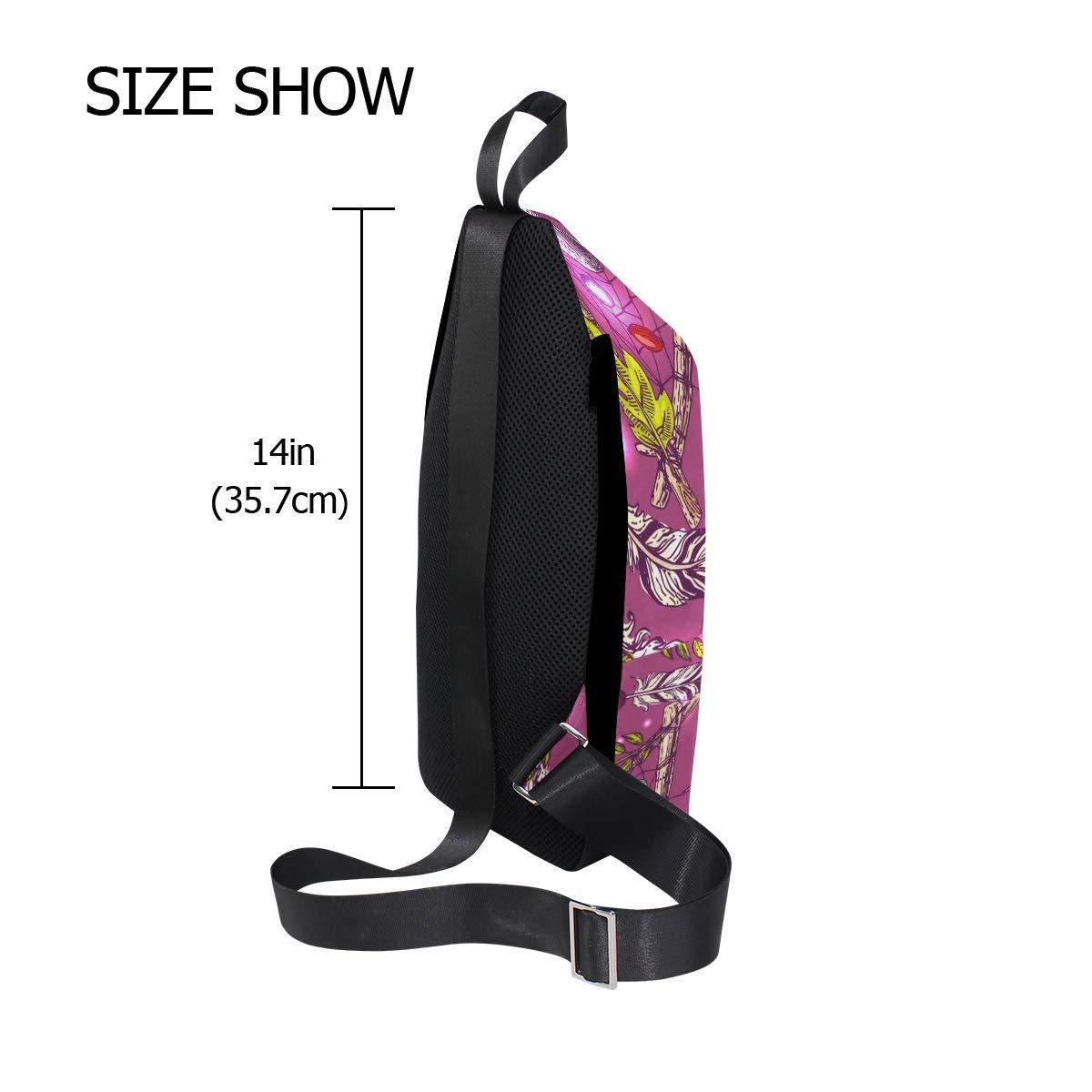 Unisex Messenger Bag Dream Catchers Sunlight Shoulder Chest Cross Body Backpack Bag
