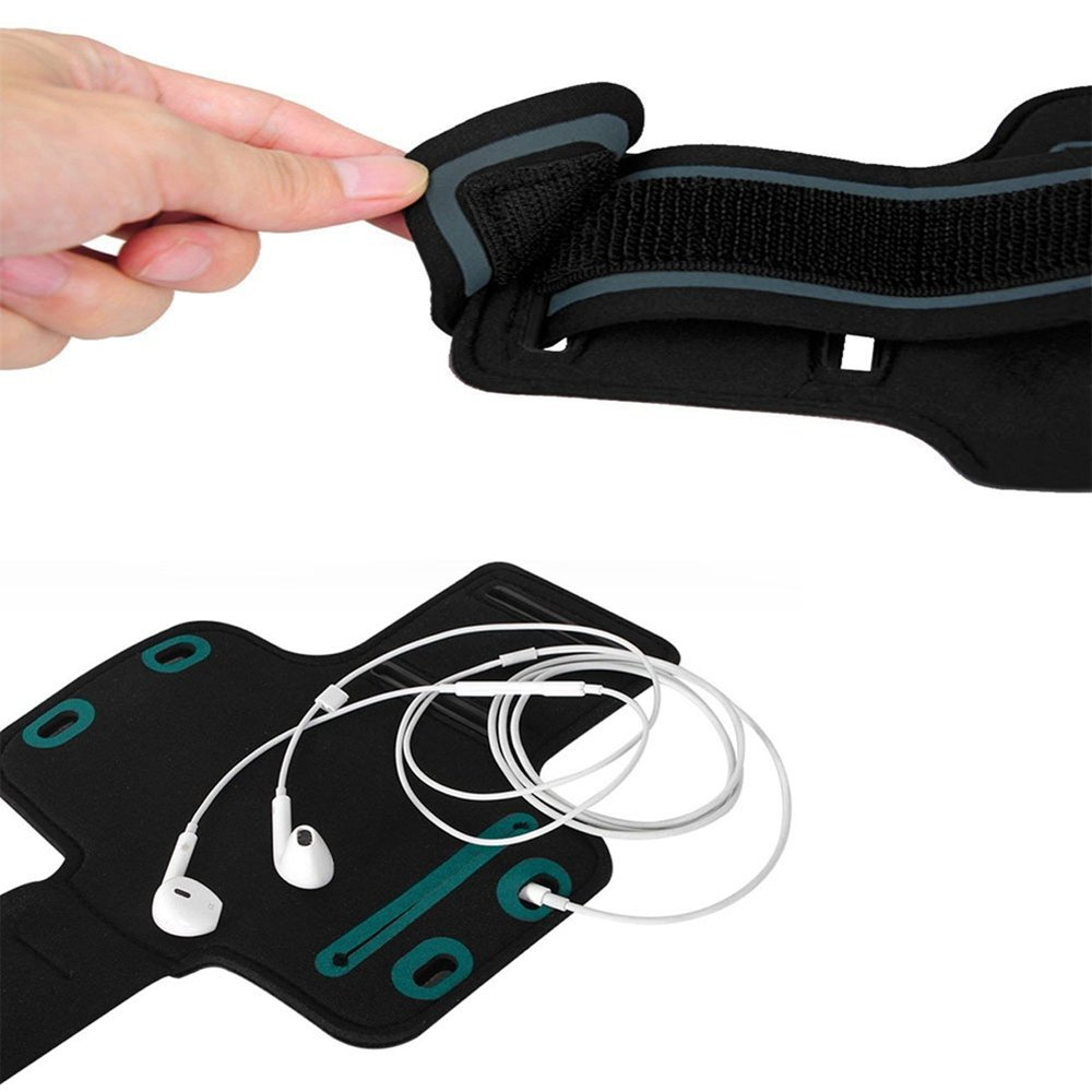 Adecuado para brazaletes Deportivos al Aire Libre hasta 5.5 Pulgadas de Tama/ño 2 Pack Brazalete Ajustable para Huawei Shot X//Huawei Nexus 6P//Huawei P9//Huawei G8 Ycloud Negro+Negro