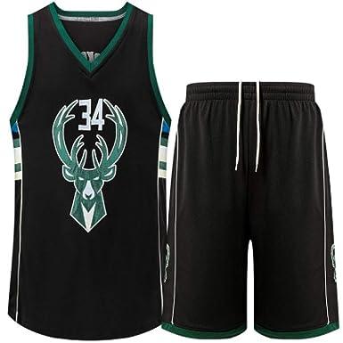 Bucks De Hombre 34 Jerseys De Baloncesto Ropa De Baloncesto ...