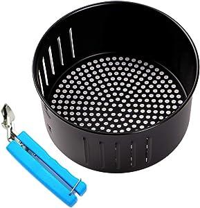 2.6QT Air Fryer Basket For DASH Gowise USA Air Fryer and All Air Fryer Oven,Air fryer Accessories, Non-Stick Fry Basket, Dishwasher Safe