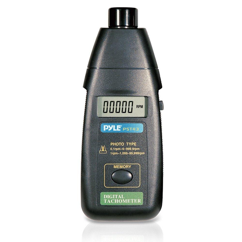 con numero di giri potenziato senza contatto PST43 Tacometro laser di precisione Pyle schermo digitale LCD e custodia