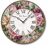 Cheap Item C8219 Vintage Victorian Style Roses Clock (12 Inch Diameter)