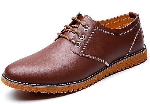 DADAWEN Homme Chaussure Derby de Ville Causal A Souple Brun 44 ubNslrna