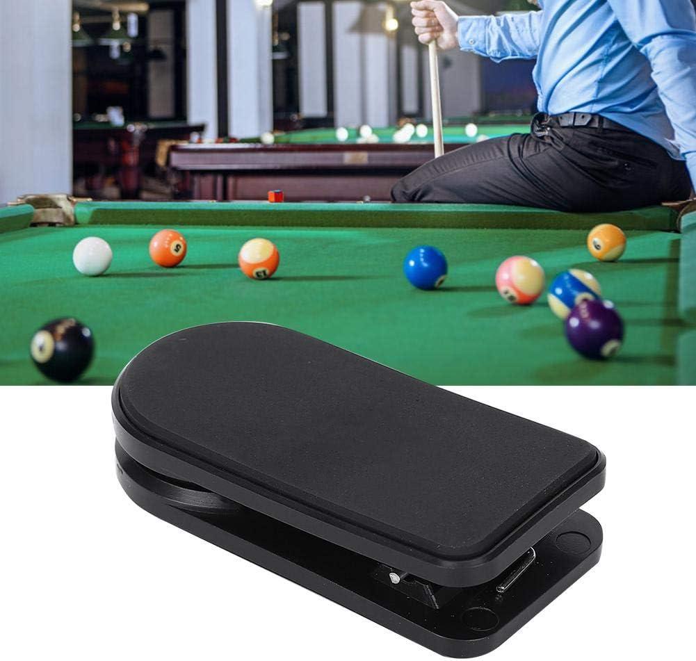 Vbest life Mute Billar Magnet Pool Cue Soporte de Tiza Clip Abrazadera Portátil Profesional Snooker Billar Suministros Accesorio Negro: Amazon.es: Deportes y aire libre