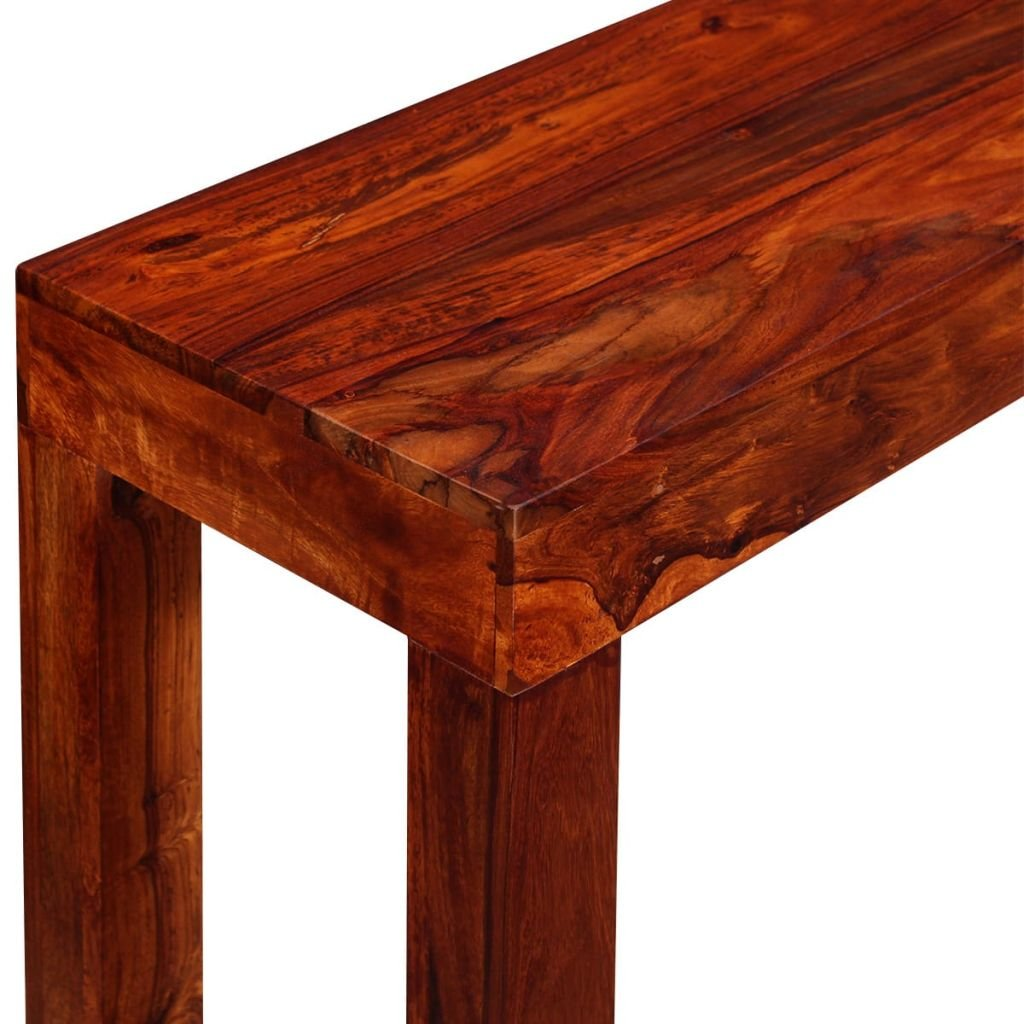 Marrone Tidyard Tavolino da Caff/è in Legno Massello di Sheesham 90 x 40 x 35 cm