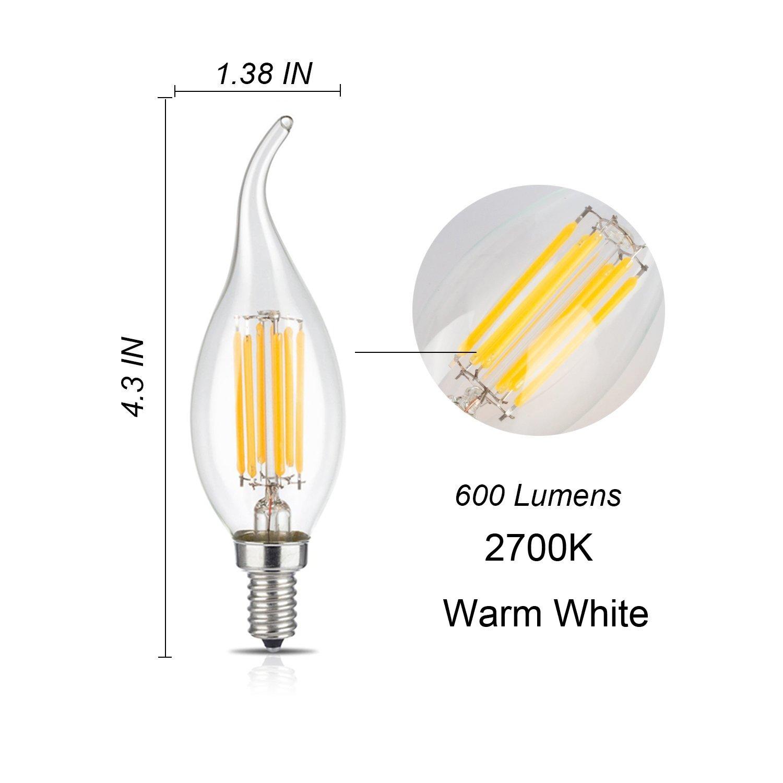 Light Bulbs Incandescent Bulbs E12 Clear Candlestick Base Lamp C35 ...