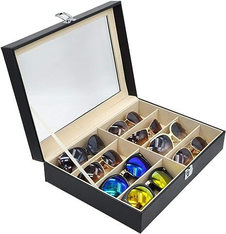8 Girds Caja del Almacenamiento de Gafas 33.5 x 24.5 x 8.5cm ...