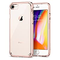 iPhone 8 Case, iPhone 7 Case, Spigen Ultra Hybrid [2nd Generation] - Reinforced Camera Protection Clear Case for Apple iPhone 7 (2016) / Apple iPhone 8 (2017) - Rose Crystal