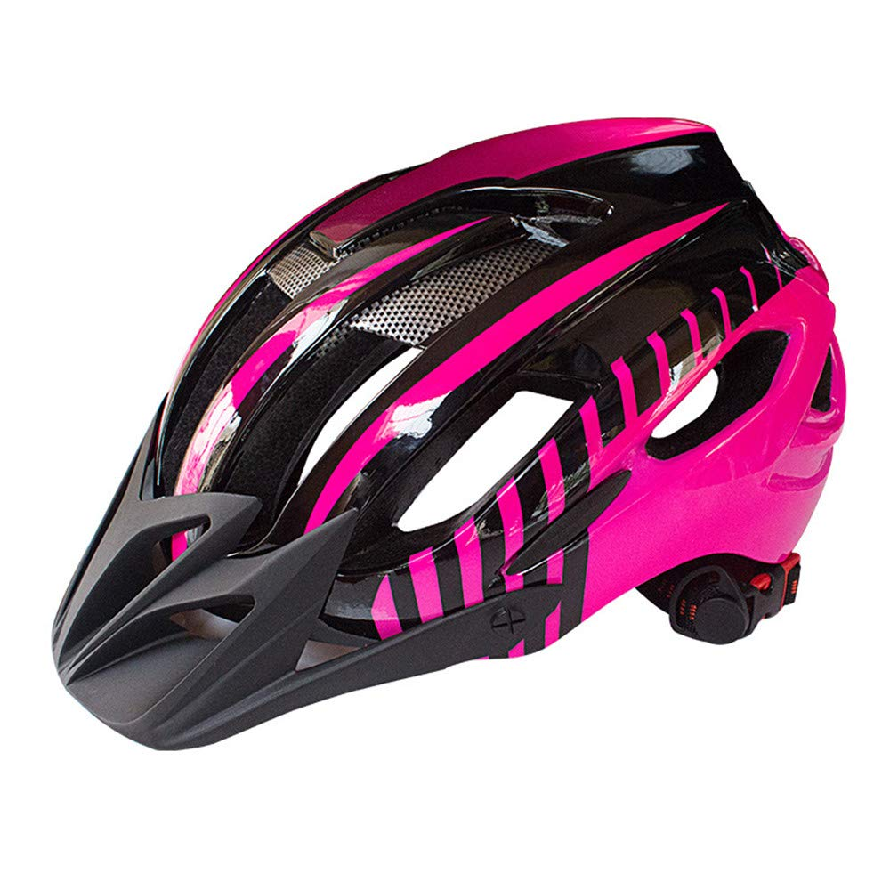 Pink Large Adult Road Bike Led Safety Light Mountain Bike Helmet Outdoor Safety Sports Equipment Adjustable