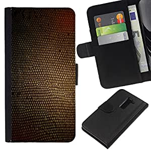 KLONGSHOP // Tirón de la caja Cartera de cuero con ranuras para tarjetas - Textura Marrón Material Diseño Textil - LG G2 D800 //