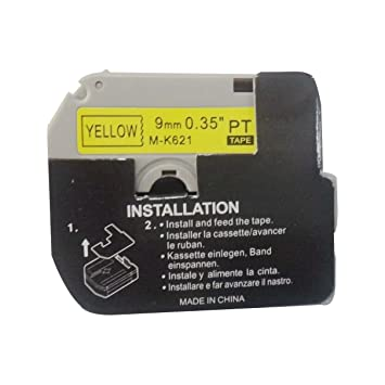 Amazon.com: 2 x Hartwii Black on Yellow Label Cassette Compatible for Brother MK-621 9mm 8m Serial Label Tape (1/4 x 26