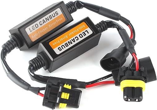 SEALIGHT 9005//HB3 LED CAN-BUS Warning Error Free Decoder Canceller Capacitor Anti-flicker Resistor harness Headlight Systems
