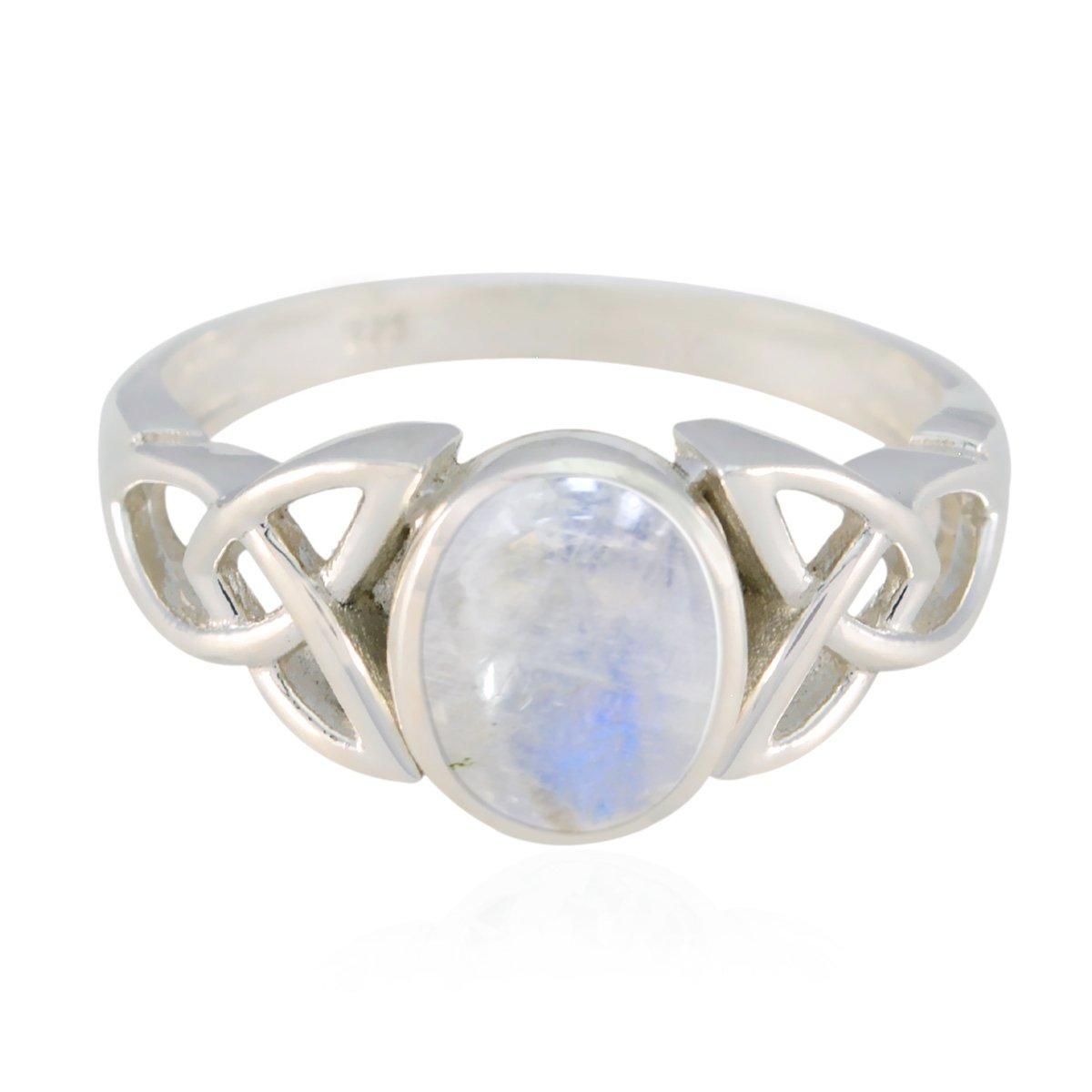 80a86a4e5175 piedras preciosas de plata maciza arco iris de luna anillo de gemas ...