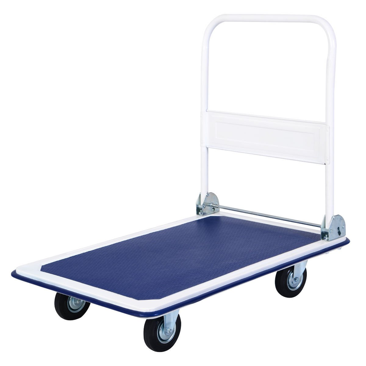 New 660lbs Blue Platform Cart Dolly Folding Foldable Moving Warehouse Push Hand Truck