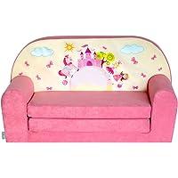 FORTISLINE Mini-canapé Infantil Sofa, diseño de Castillo, Color