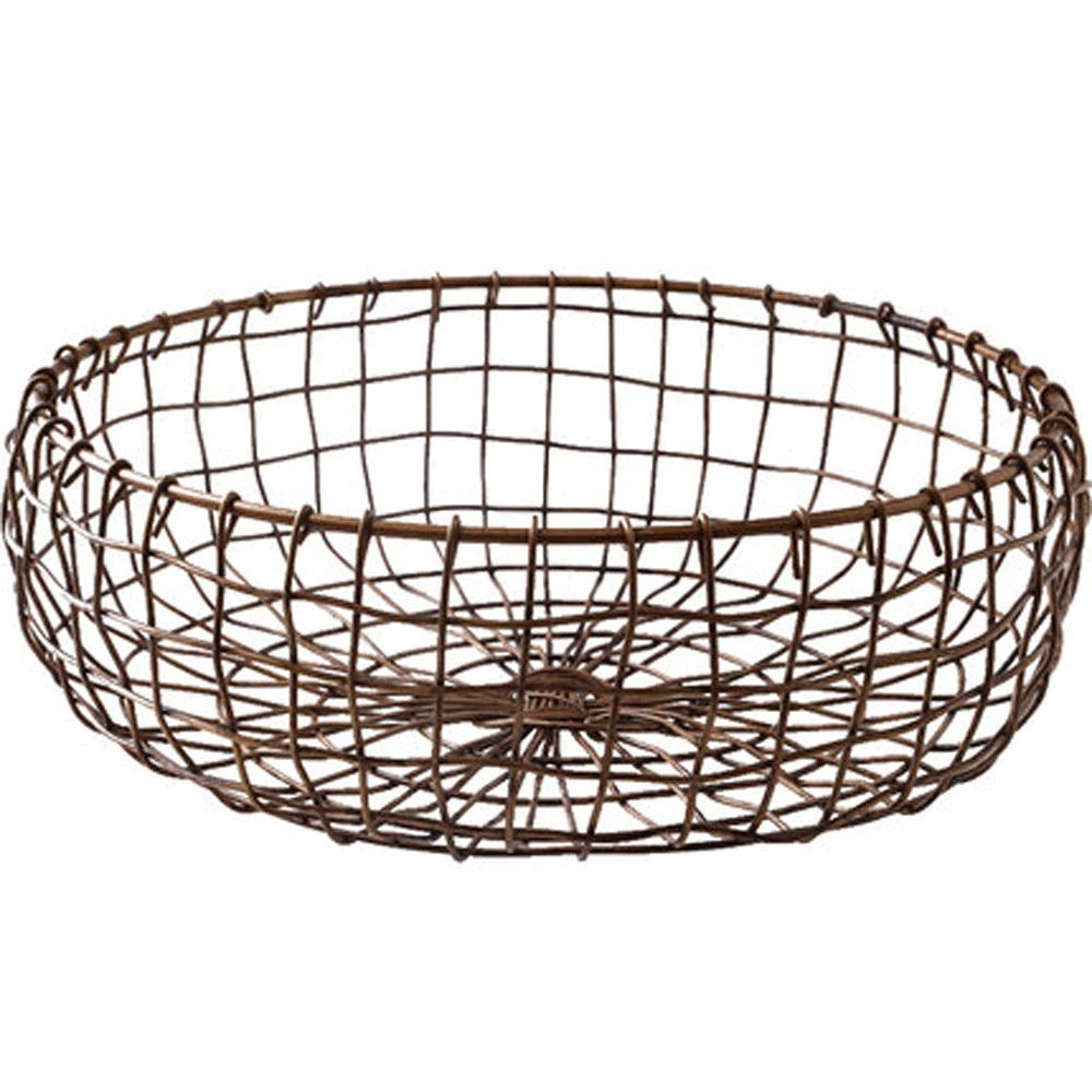 Storage Basket Creative Retro Desktop Home Wrought Iron Baking Bread Basket Fruit Basket (Size : B)