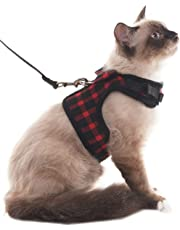 SCIROKKO Escape Proof Cat Harness and Leash Mesh Padded Vest Adjustable for Walking