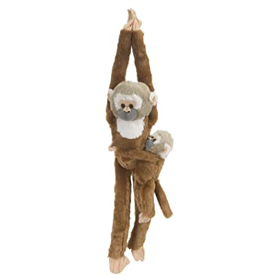 Wild Republic Squirrel Monkey w/baby Plush, Monkey Stuffed Animal, Plush Toy, Gifts for Kids, Hanging 20 Inches: Toys & Games