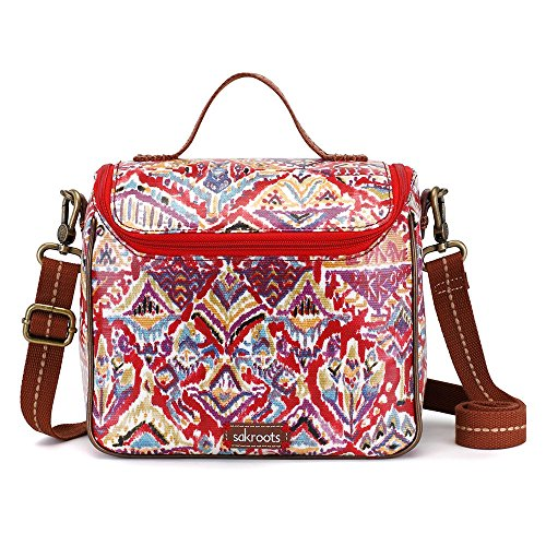 Sakroots Artist Circle Crossbody Cooler Cross Body Bag (Sweet Red Brave Beauti) -