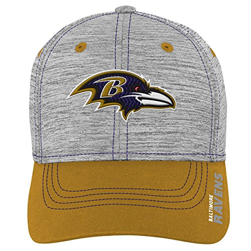 Outerstuff NFL NFL Baltimore Ravens Youth Boys Velocity Structured Flex Hat Heather Grey, Youth One Size
