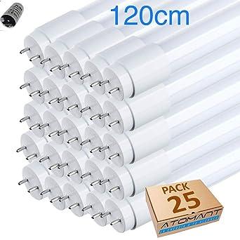 (LA) 25x Tubo de LED 360 grados, 120cm, blanco frío (6500K