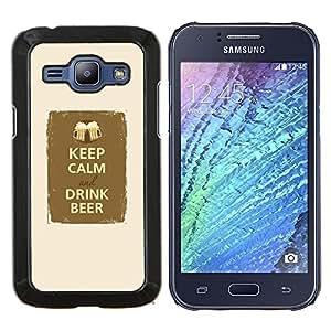 Dragon Case - FOR Samsung Galaxy J1 J100 J100H - keep calm drink beer party fraternity - Caja protectora de pl??stico duro de la cubierta Dise?¡Ào Slim Fit