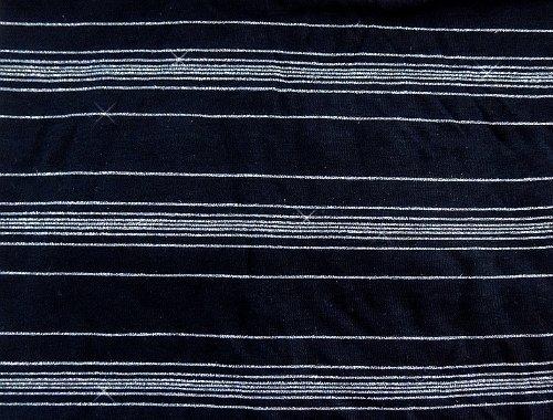 Leichtes Damen Streifentop - Black - Größe 36-38 - mit Effektgarn