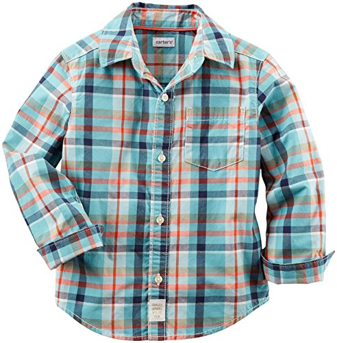Carter's Baby Boys' Woven Buttonfront 225g531, Plaid, 6 Months by Carter's