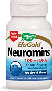 Nature's Way Neuromins EfaGold 100 mg DHA, 60 Softgels