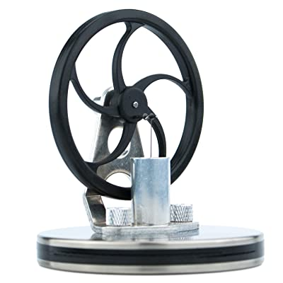 DjuiinoStar Mini Low Temperature Stirling Engine, Unique Coffee Mug Cover (Rotate 40 Minutes on A Cup of Hot Coffee), Office Desk Toy, Creative Gift DLTD-204: Toys & Games