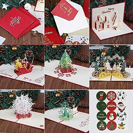 Kesote 6 3D Tarjetas de Felicitación de Navidad Tarjetas de ...