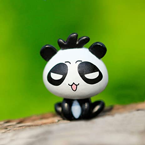 Happu Store(TM) 1 Pcs Panda Garden Ornament Mini Resin Moss Micro World