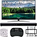 """LG 75SM8670PUA 75"""" 4K HDR Smart LED IPS TV w/AI ThinQ 2019 Model with Home Theater 31"""" Soundbar, Wireless Backlit Keyboard, Flat Wall Mount Kit & SurgePro 6-Outlet Surge Adapter"""