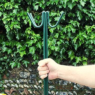 10 x PVC verde malla de cercado carretera pines 1,3 m gancho para lámpara para temporal vallas de jardín acero pintado por True Products: Amazon.es: Bricolaje y herramientas