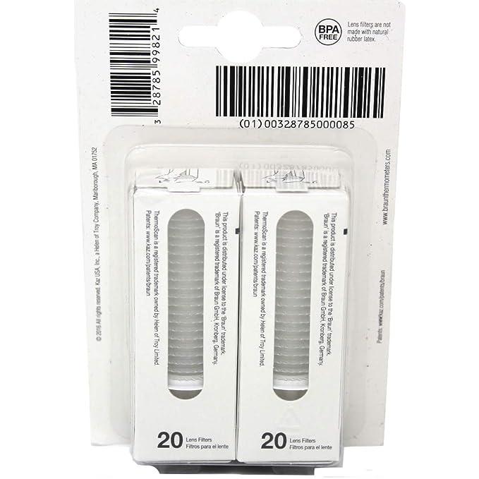 Braun Termómetro de oído lente filtros Pack de 80: Amazon.es: Salud y cuidado personal