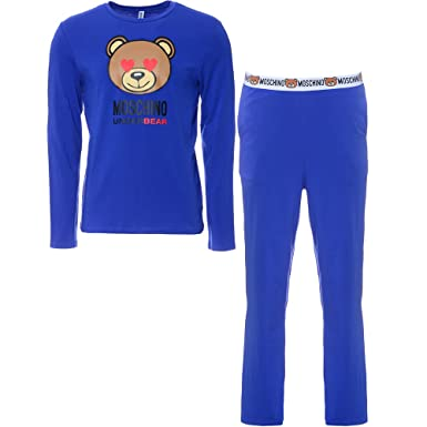 negozio online 0b331 19b95 Moschino - Pigiama Due Pezzi - Uomo Blue Large: Amazon.it ...