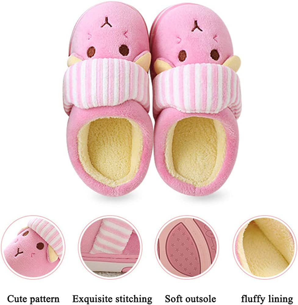 Girls Boys Fur Lined Indoor House Slipper Bunny Warm Winter Toddler Slippers SITAILE Cute Home Shoes